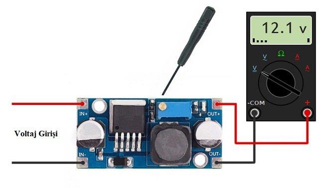 LM2596 Voltaj regülatörü kullanımı